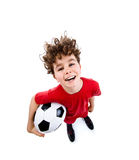 Football player. Young football player isolated on white background Royalty Free Stock Photos