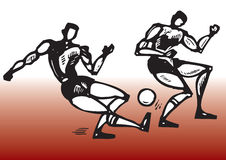 Football players. Isolated Hand drawn sports illustration - football players Royalty Free Stock Photo