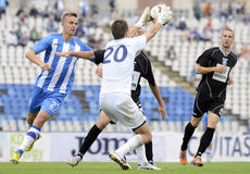 Football players in action Royalty Free Stock Images
