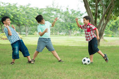 Football players Stock Photography