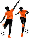 Football players. In color vector format Stock Photography
