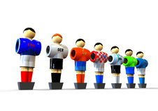 Football players concept. 3D render image representing football players from different countrys Stock Photo