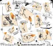 Football players - different snapshots Stock Images