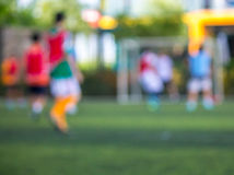 Football players in game. Royalty Free Stock Photo