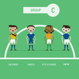 Football players group C Royalty Free Stock Photo