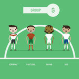 Football players group G Royalty Free Stock Photos