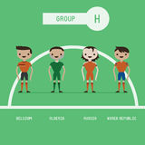 Football players group H Stock Photo
