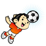 Football players heading Mascot. Sports Character Design Series. Stock Images