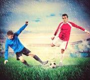 Football players Royalty Free Stock Photos
