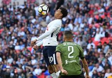Dele Alli. Football players pictured during preseason friendly game game between Tottenham Hotspur and Juventus Torino on August 28, 5 at Wembley Stadium in Royalty Free Stock Images