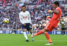 Dele Alli. Football players pictured during preseason friendly game game between Tottenham Hotspur and Juventus Torino on August 28, 5 at Wembley Stadium in Royalty Free Stock Photography