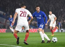 Eden Hazard. Football players pictured during the UEFA Champions League Group C game between Chelsea FC and AS Roma on October 18, 2017 at Stamford Bridge Royalty Free Stock Image