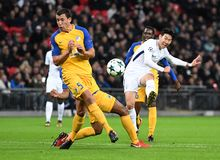 Heung-Min Son. Football players pictured during the UEFA Champions League Group H game between Tottenham Hotspur and APOEL FC on December 6, 2017 at Wembley Royalty Free Stock Photos