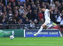 Heung-Min Son. Football players pictured during the UEFA Champions League Group H game between Tottenham Hotspur and Borussia Dortmund on September 13, 2017 at Stock Photography