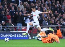 Heung-Min Son. Football players pictured during the UEFA Champions League Group H game between Tottenham Hotspur and Borussia Dortmund on September 13, 2017 at Stock Images