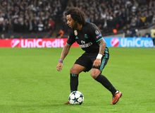 Marcelo. Football players pictured during the UEFA Champions League Group H game between Tottenham Hotspur and Real Madrid on November 1, 2017 at Wembley Stadium Royalty Free Stock Photos