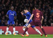 Eden Hazard. Football players pictured during the UEFA Champions League Round of 16 game between Chelsea FC and FC Barcelona held on February 20, 2018 at Royalty Free Stock Photography