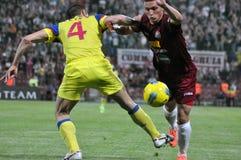 Football players running Royalty Free Stock Image