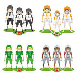 Football players Royalty Free Stock Photos