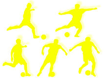 Football players silhouette Stock Images