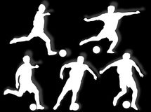 Football players silhouette Stock Photo