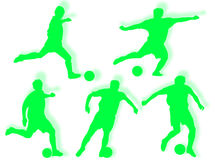 Football players silhouette Stock Photography
