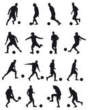 Football players silhouettes Stock Photography
