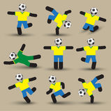 Football players silhouettes. Vector illustration. Use for soccer sport Royalty Free Stock Image