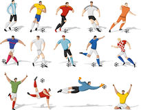 Football players. Stock Images