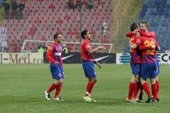 football players steaua team Στοκ Φωτογραφία