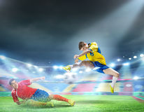 Football players Stock Image