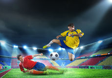 Football players Royalty Free Stock Images