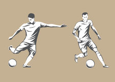 Football players. Vector Illustration. Football or soccer players. Vector Illustration Royalty Free Stock Photography
