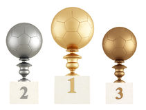 Football podium Royalty Free Stock Photos
