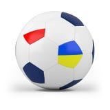 Football with polish and ukrainian. Flag - high quality 3d illustration Stock Photography