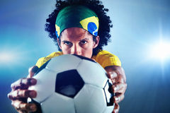 Football portrait Royalty Free Stock Photos