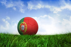 Football in portugal colours Stock Photography