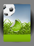Football poster Royalty Free Stock Image