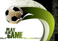 Football poster Royalty Free Stock Images