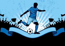 Football poster Royalty Free Stock Photography