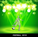 Football poster Stock Image