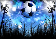 Football poster design Royalty Free Stock Photography