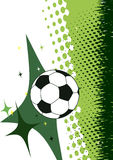 Football poster.Green background with abstract elements.Vertical Stock Image