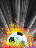 Football poster light burst. EPS 8 Stock Photography