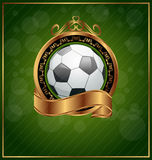 Football poster with place for your text Royalty Free Stock Photography