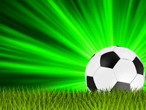 Football poster place for your text. EPS 8 Stock Photography