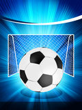 Football poster with soccer ball. EPS 8 Stock Photo