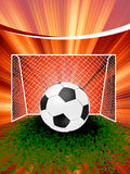 Football poster with soccer ball. EPS 8 Stock Photography