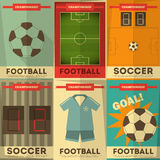 Football Posters Stock Photo