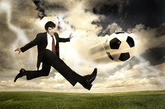 Football power Stock Photos